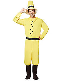 Adult Man in Yellow Hat Costume - Curious George