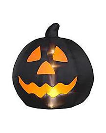 3 Ft Black Pumpkin Inflatable - Decorations