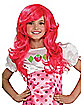 Kids Pink Strawberry Shortcake Wig - Strawberry Shortcake