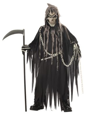 Kids Glow in the Dark Grim Reaper Costume - The Signature Collection  sc 1 st  Spirit Halloween & Kids Light-Up Reaper Costume - Spirithalloween.com