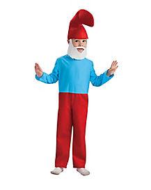 Kids Papa Smurf One Piece Costume - The Smurfs