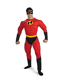 Adult Mr Incredible Costume Deluxe - The Incredibles