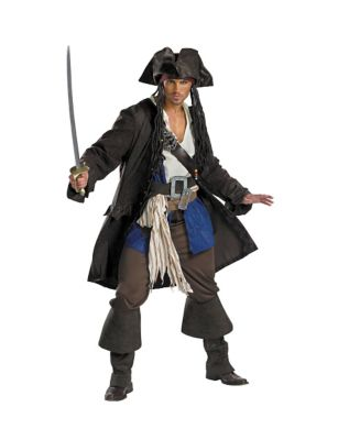 Adult Captain Jack Sparrow Costume Deluxe - Pirates of Caribbean