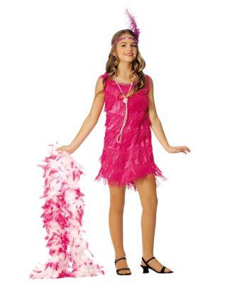 1920s Children Fashions: Girls, Boys, Baby Costumes Kids Hot Pink Flapper Costume by Spirit Halloween $24.98 AT vintagedancer.com