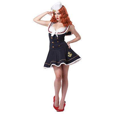 1940s Style Dresses and Clothing Adult Nautical Doll Costume $49.99 AT vintagedancer.com