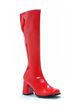 Retro Boots, Granny Boots, 70s Boots Red Go Go Boots  - Size 10 - by Spirit Halloween $34.99 AT vintagedancer.com
