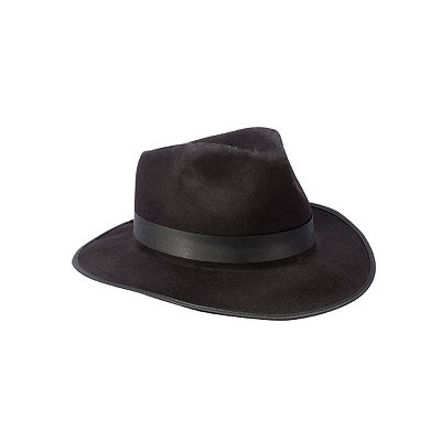 1930s Style Mens Hats Black Gangster Hat $9.99 AT vintagedancer.com