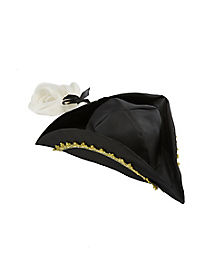 Colonial Hat with White Wig