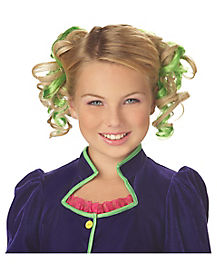 Kids Green Curly Clips