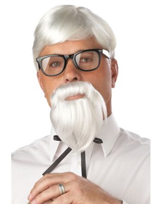 Victorian Men's Costumes: Mad Hatter, Rhet Butler, Willy Wonka The Colonel Wig and Mustache by Spirit Halloween $19.99 AT vintagedancer.com