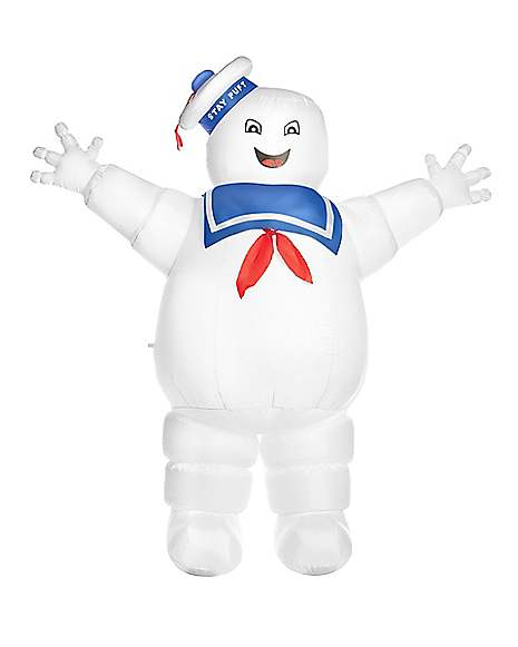 Licensed Ghostbusters Inflatable Stay Puft Marshmallow Man Ghost Adult Costume