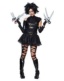 Adult Miss Scissorhands Costume Mini Dress - Edward Scissorhands