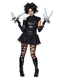 Adult Miss Scissorhands Costume Mini Dress - Edward Scissorhands