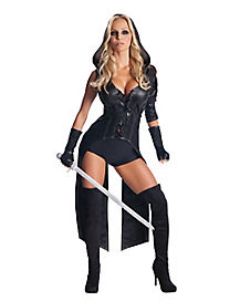 Adult Sweet Pea Fight Suit Costume - Sucker Punch