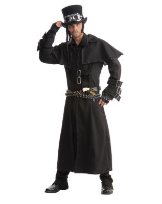 Men's Steampunk Jackets, Coats & Suits Mens Duster Steampunk Costume by Spirit Halloween $49.99 AT vintagedancer.com