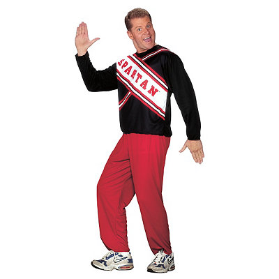 1950s Men's Costumes: Greaser, Elvis, Rockabilly, Prom Adult Spartan Cheerleader Costume - Saturday Night Live $24.99 AT vintagedancer.com