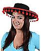 Spanish Ball Fringe Black Hat