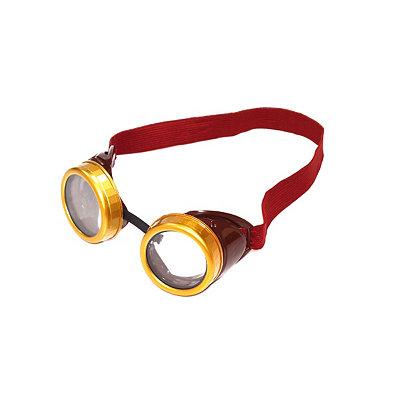Men's Steampunk Goggles, Guns,  Accessories Brown Steampunk Goggles $12.99 AT vintagedancer.com