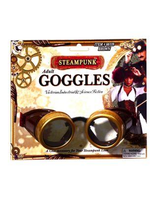 Retro Sunglasses | Vintage Glasses | New Vintage Eyeglasses Brown Steampunk Goggles by Spirit Halloween $12.99 AT vintagedancer.com