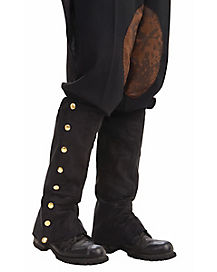 Black Suede Steampunk Boot Covers
