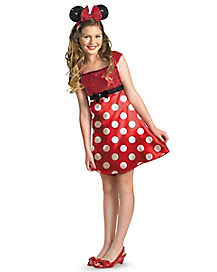 Tween Red Minnie Mouse Dress Costume - Disney