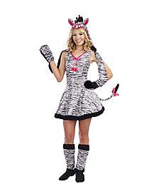 Tween Wild Thang Zebra Hoodie Costume