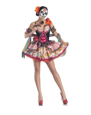 DAY OF THE DEAD ADULT WOMENS COSTUME