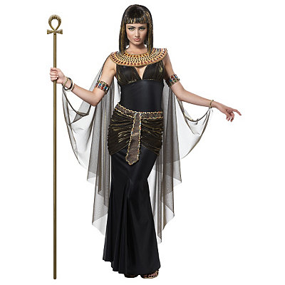 Roaring 20s Costumes- Cheap Flapper Dresses, Gangster Costumes Adult Black Cleopatra Costume $54.99 AT vintagedancer.com