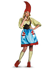 Adult Mrs Gnome Plus Size Costume