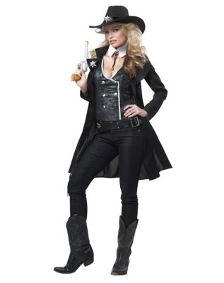 Victorian Costumes: Dresses, Saloon Girls, Southern Belle, Witch Adult Round Em Up Cowgirl Costume by Spirit Halloween $59.99 AT vintagedancer.com