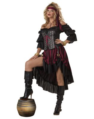 Steampunk Dresses | Women & Girl Costumes Adult Wench Pirate Costume by Spirit Halloween $54.99 AT vintagedancer.com