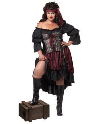 Steampunk Dresses | Women & Girl Costumes Adult Wench Pirate Plus Size Costume by Spirit Halloween $59.99 AT vintagedancer.com