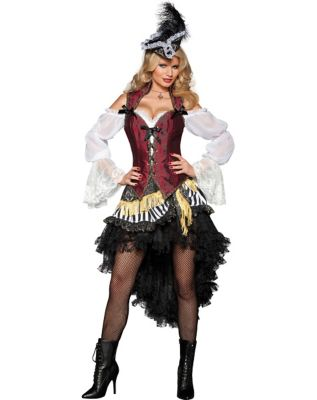 Steampunk Dresses | Women & Girl Costumes Adult High Seas Treasure Pirate Costume - The Signature Collection by Spirit Halloween $179.99 AT vintagedancer.com