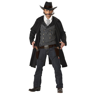 Men's Vintage Style Suits, Classic Suits Adult Gunfighter Costume $54.99 AT vintagedancer.com