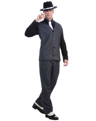 1940s Men's Costumes: WW2, Sailor, Zoot Suits, Gangsters, Detective Mens Gangster Costume by Spirit Halloween $46.99 AT vintagedancer.com