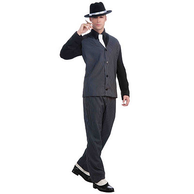 1940s Men's Costumes: WW2, Sailor, Zoot Suits, Gangsters, Detective Adult Gangster Costume $46.99 AT vintagedancer.com