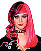 Punked Out Black & Pink Adult Wig