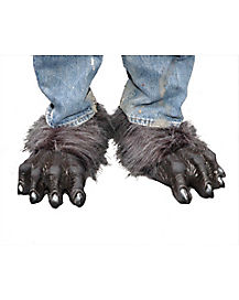 Gray Killer Wolf Feet Shoe Covers