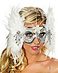Snowflake Feather Mask