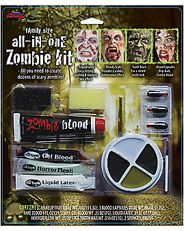 Family-Size All-in-One Zombie Makeup Kit