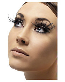Black Plume Feather False Eyelashes