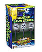 Solar Power Light-up Skull Lawn Stakes
