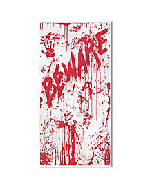 Bloody Entrance Door Cover - Decorations