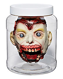 Shrunken Head in Jar - Decorations