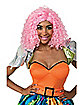 Nicki Minaj Pink Curly Wig