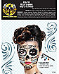 White and Black Day of the Dead Temporary Tattoos