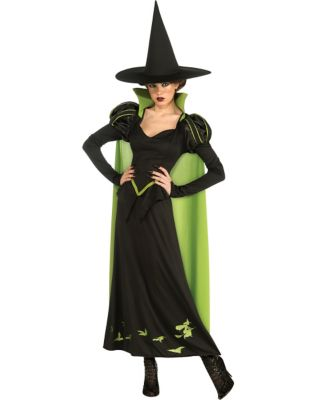 1940s Costumes- WW2, Nurse, Pinup, Rosie the Riveter Adult Wicked Witch Costume - Wizard of Oz by Spirit Halloween $49.99 AT vintagedancer.com