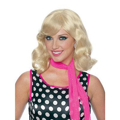 Shop 1950s Hair Accessories 50s Magic Blonde Wig $19.99 AT vintagedancer.com