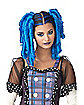 Anime Blue Curls Wig with Hairscara