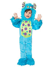 Toddler Blue Lil Monster One Piece Costume